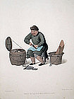 SHOEMAKER Engraving Costume China 1800 London Antique Print