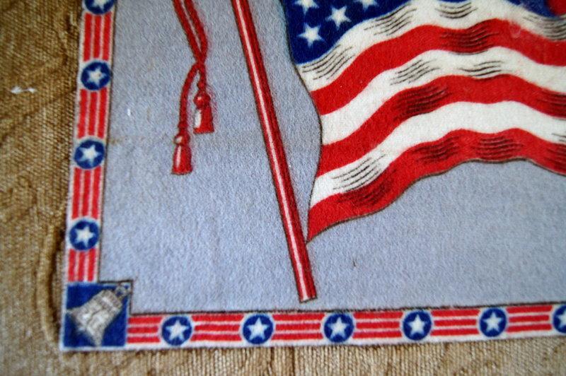 C1920 DoubleSided Felt Tobacco Premium USA Flag