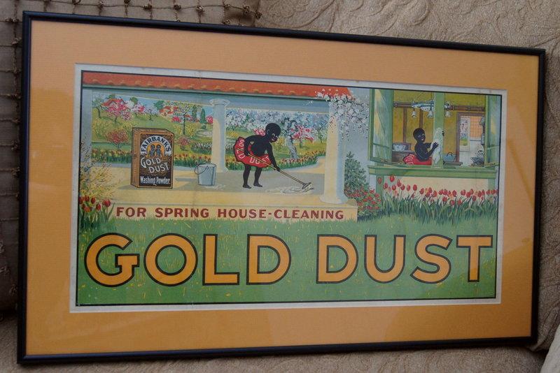 RARE 1921 GOLD DUST TWINS Washing Powder Trolley Sign