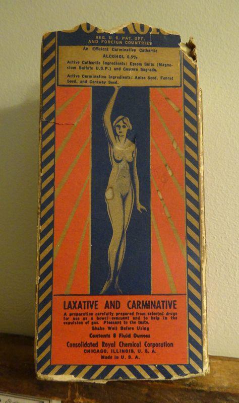Graphic Obesity BonKora Patent Medicine Bottle w/Nude Female Image
