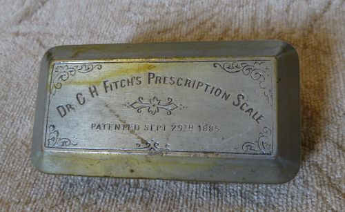 Dr. Fitch's 1885 Prescription Pharmacy Drugstore Scale #1