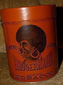 Black Americana 1949 BIGGER HAIR Tobacco Tin Formerly Nigger Hair