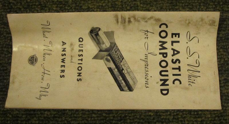 SS White 1923 Dental Denture Churning Syringe w/Box