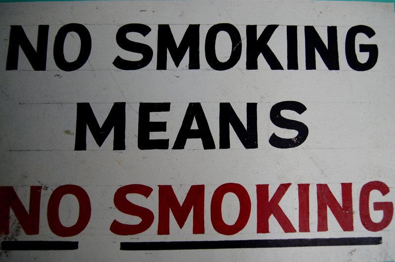 Vintage 1940s NO SMOKING MEANS NO SMOKING HndPtd Sign