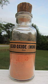 Fabulous Early Chemist Pharmacy LEAD OXIDE Bottle