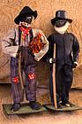 1930s Alabama Folk Art Black Cloth Dolls WPA Project US President FDR