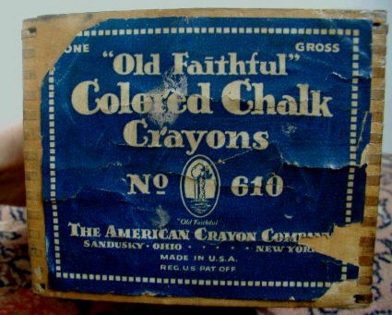 Old School House Chalk Box Cobalt Paper Label