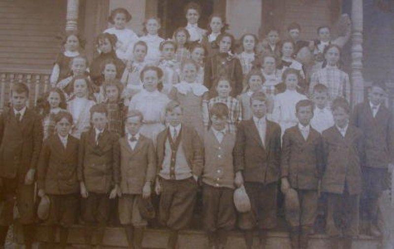 19thC New England One Room School House Photograph