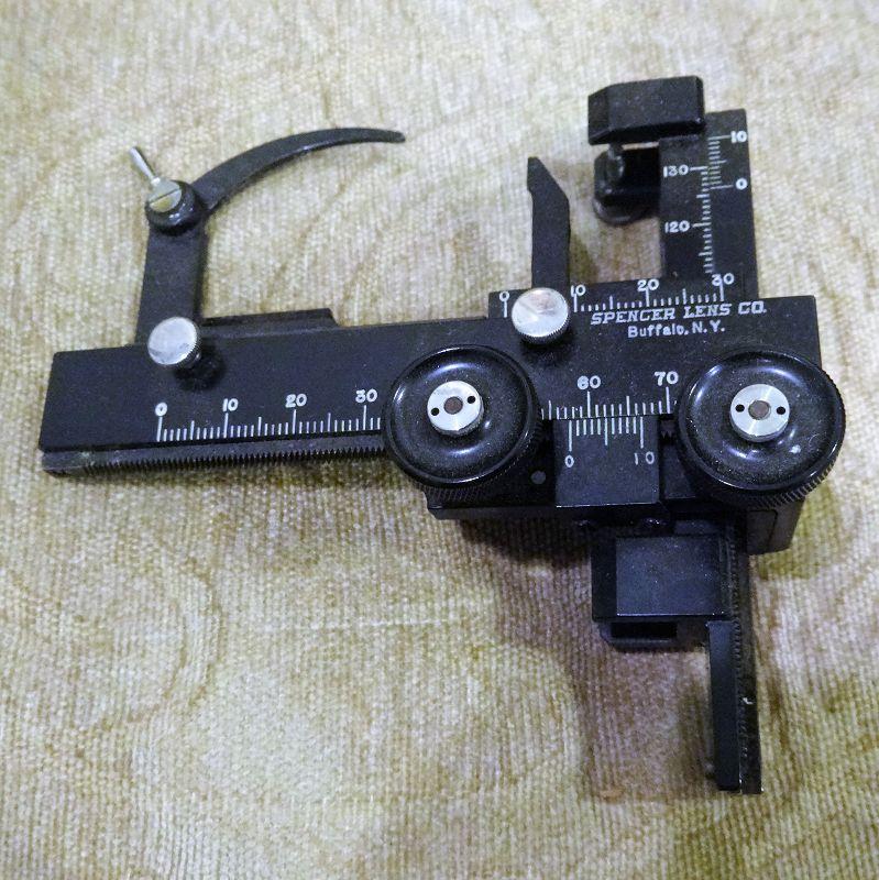 Vintage Spencer Lens Company Medical Microscope Slide Stage