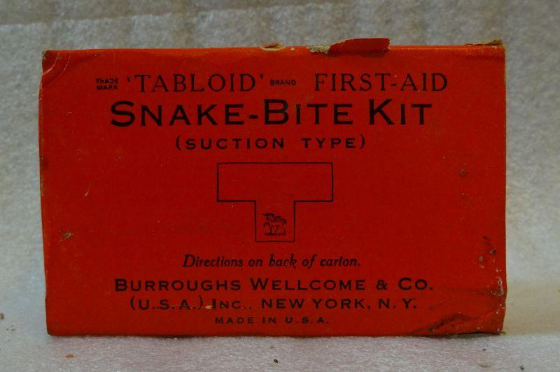 C1940s Snake Bite Medical Kit WWII Era Burroughs Wellcome & Co.