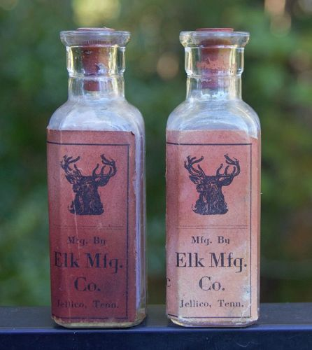 Scarce Poison Pharmacy Drugstore Bottle W/ Graphic ELK Jellico,TN