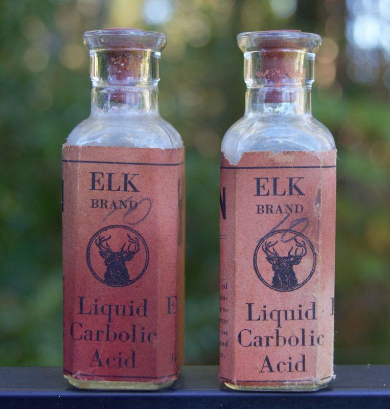 Scarce Poison Pharmacy Drugstore Bottle W/ Graphic ELK Jellico,TN