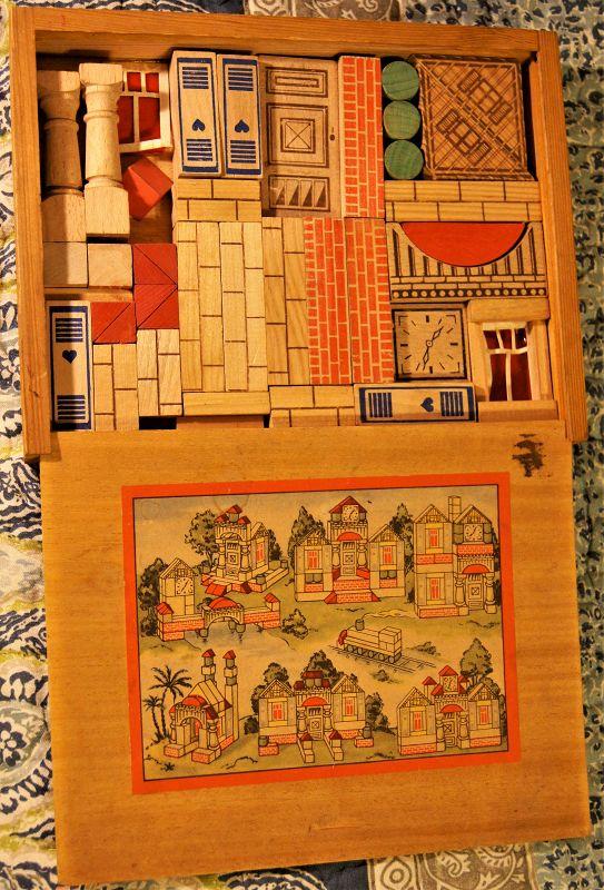 C1920s Architectural Wood Building Blocks Set Germany Weimar Republic