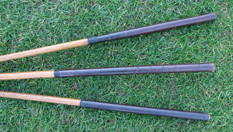 3 Golf Clubs Hickory Forged Nicolls Scotland Hillerick Schmidt  1920s