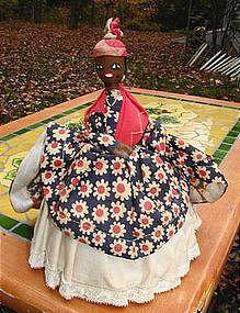 Delightful C1940 Black Memorabilia Mammy Basket Doll