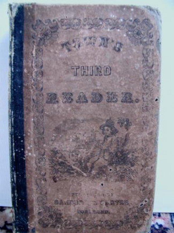1851 Portland Maine School Book Town�s Third Reader