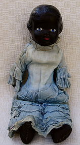 C1910 Beautiful Black Memorabilia Composition Shoulder Head Doll