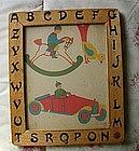 1930s Germany Kindergarten School Fine Motor Practice ABC Frame