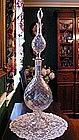 Hand Blown Apothecary Showglobe Diamond Swirl Pattern