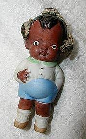 Adorable Bisque Baby Boy 1940s Japan  Black Memorabilia
