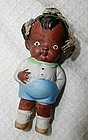 Adorable Bisque Baby Boy 1940s Japan  Black Memorabilia