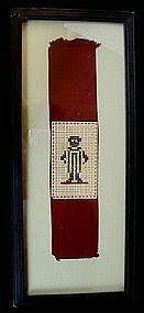 C1890 Very Scarce Black Memorabilia Cross Stitch Sampler Little Boy