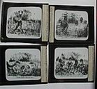 1900 RARE Set Story-Telling Black Memorabilia Glass Lantern Slides