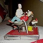 1950s Folk Art Miniature Model Dentist Pulling Tooth