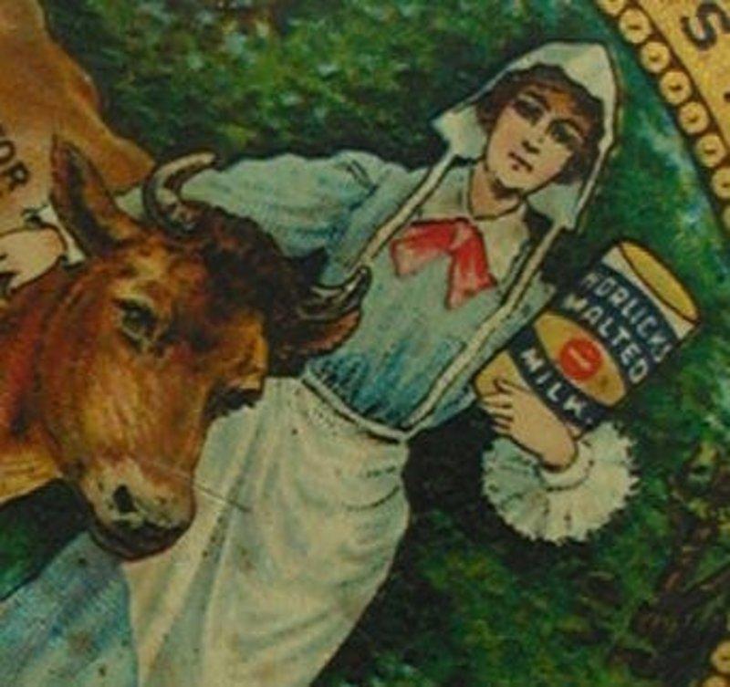 C1910 Horlick's Malted Milk Advertising Pocket Mirror