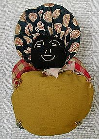 Darling1930s Cloth Mammy Pin Cushion w/Embroidered Face