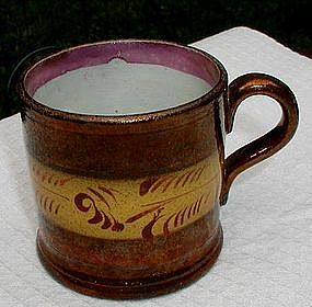 Darling 19thC England Copper Lustre Luster Child's Mug or Cup