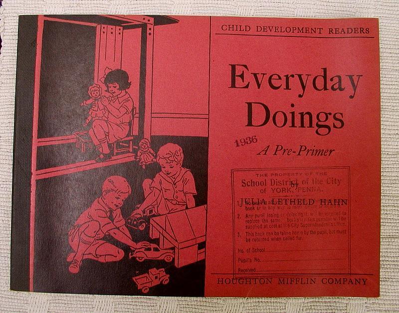 Darling 1935 Houghton Mifflin School Pre-Primer Workbook