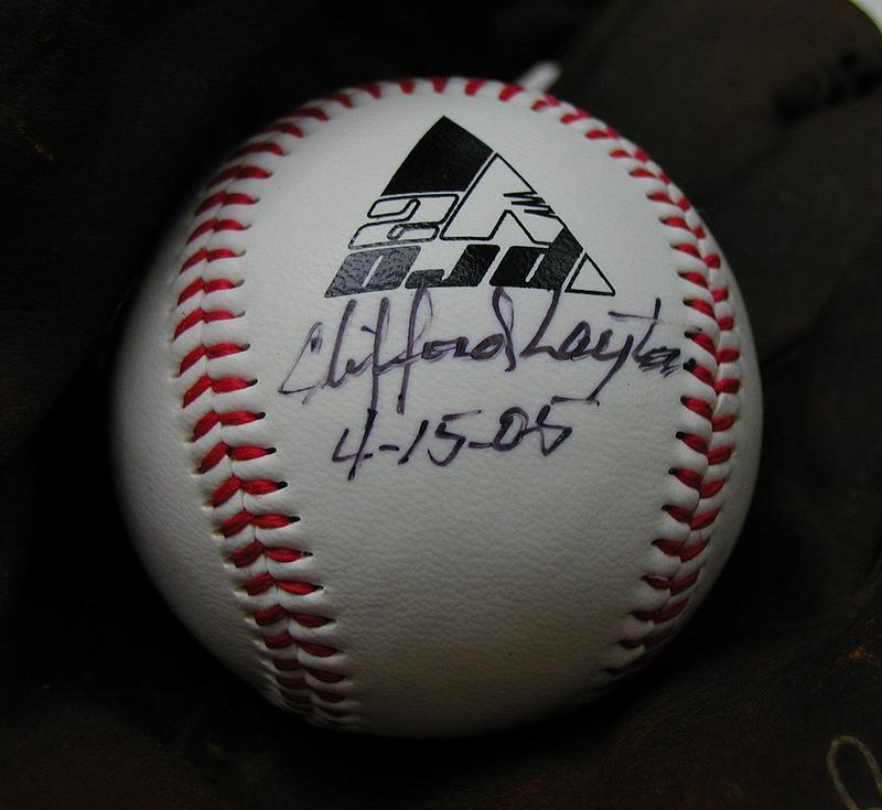 Signed Baseball Negro League Baseball Player CLIFFORD LAYTON