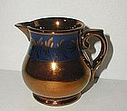 Lovely 19thC England Copper Lustre Luster Creamer w/ Blue Band