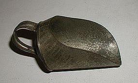Tiny 19thC New England Tin Grain Flour Candy Scoop Robacher Estate