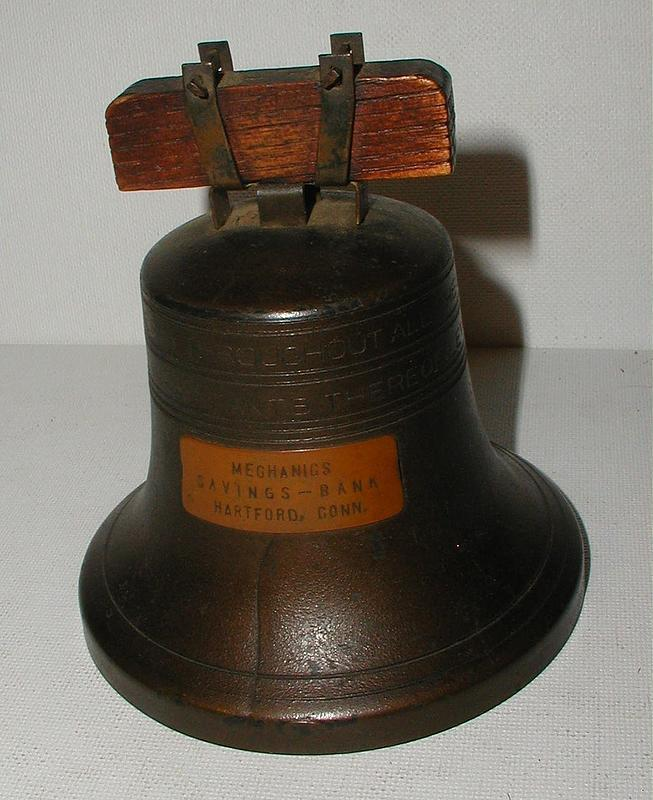 1919 Liberty Bell Bank Hartford Connecticut Mechanics Savings Bank