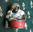 1920s Cast Iron Black Americana Drummer Figure