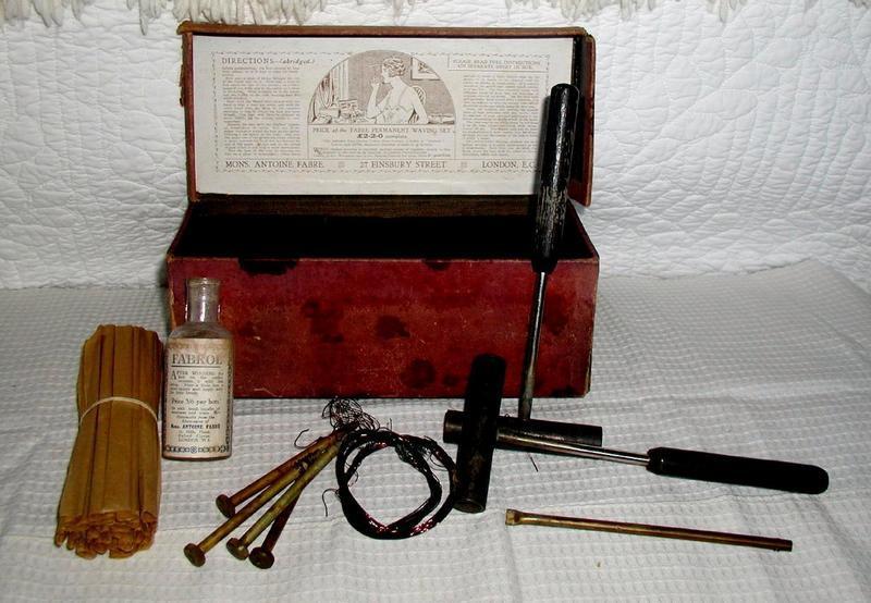 Fab ART DECO 1920 Hair Salon Permanent Wave Curling Set