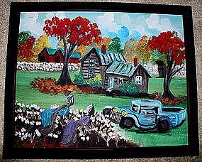 Original Art Southern Black Folk Artist Geraldine Smith