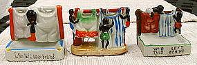 Group of 1940 Japan Black Memorabilia Laundry Ashtrays