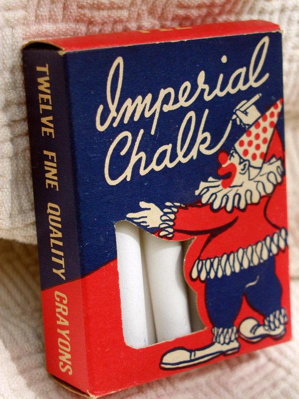 1940-50s MIB Imperial Brooklyn Box of School Art Chalk