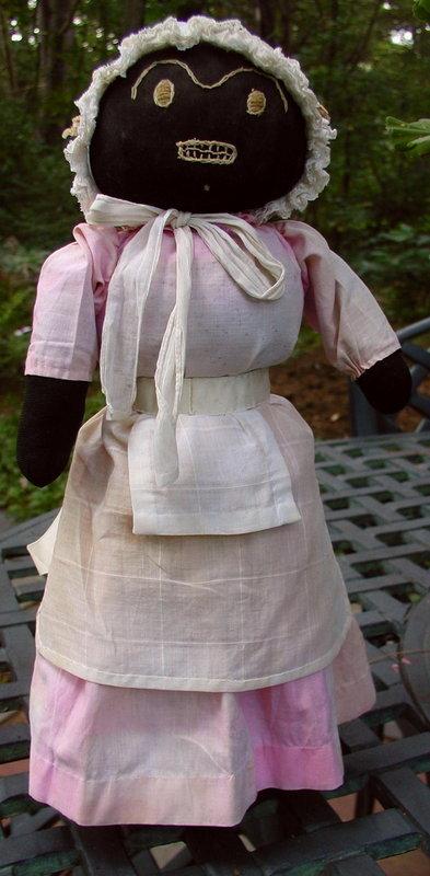 1920 Black Memorabilia Hand-Stitched Mammy Bottle Doll