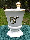 Wonderful Mid Century Modern White Ceramic Mortar & Pestle Display