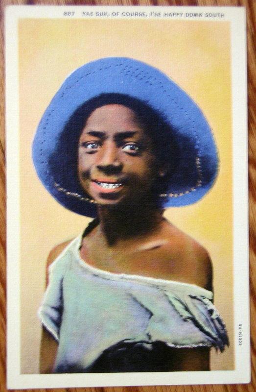 Group10 Black Memorabilia Postcards 1930-1950s Vintage