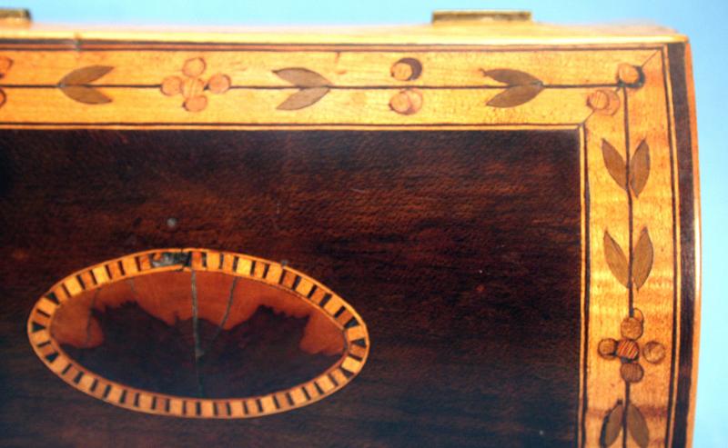 English Tunbridge Ware Dome Top Box