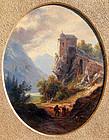 Travelers in an Alpine Landscape