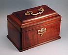 18th Century English Tea Caddy with Hidden Drawer