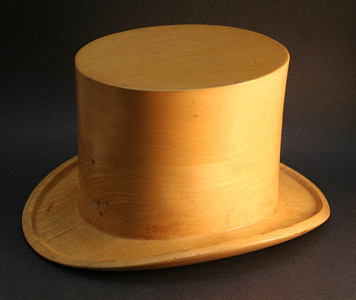 Carved Wooden Top Hat