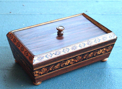 19yh C. Tunbridge Ware Trinket Box