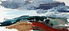 Modernist Landscape by John Hitchens (English b. 1940)